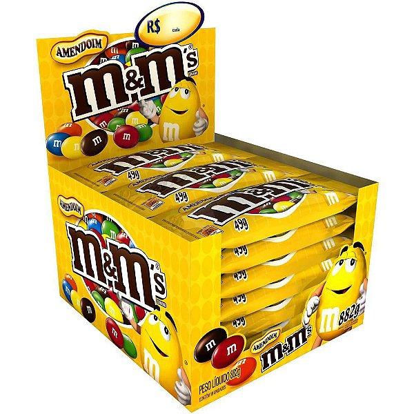 MMs Amendoim 49g Caixa com 18 unidades - Mars - Rizzo Embalagens