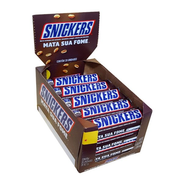 Chocolate Snickers 20 unidades de 52,7g - Mars - Rizzo Embalagens