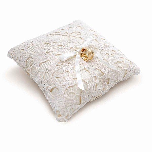Almofada para Alianca Renda Perola (28400023) - 01 unidade - Cromus Casamento Classico - Rizzo Festas