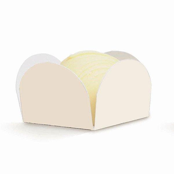 Forminha para Doces Liso Marfim (28610302) - 50 unidades - Cromus Casamento Classico - Rizzo Festas