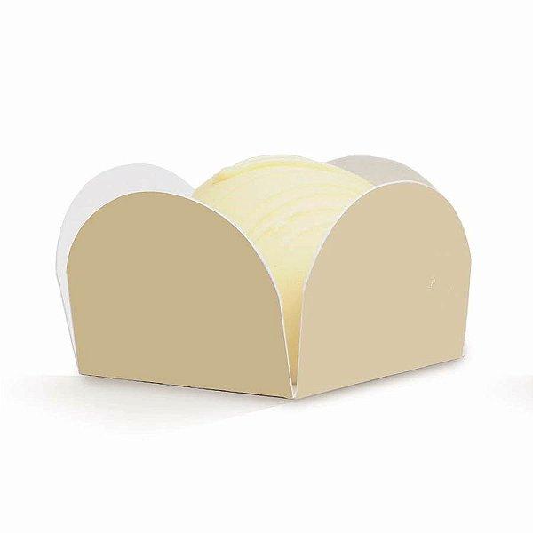 Forminha para Doces Liso Bege (28610301) - 50 unidades - Cromus Casamento Classico - Rizzo Festas