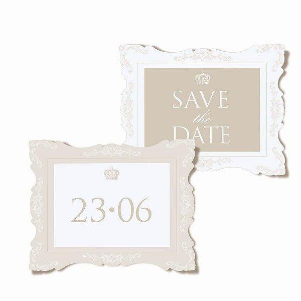Placa Save the Date - 01 unidade (par) - Cromus Casamento Classico - Rizzo Festas