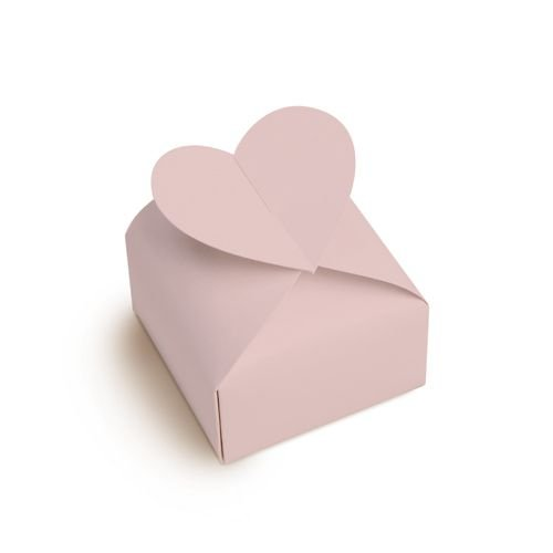Caixa Bem Casado Coracao Rose 23010535 - 24 unidades - Cromus Casamento Romantico - Rizzo Festas