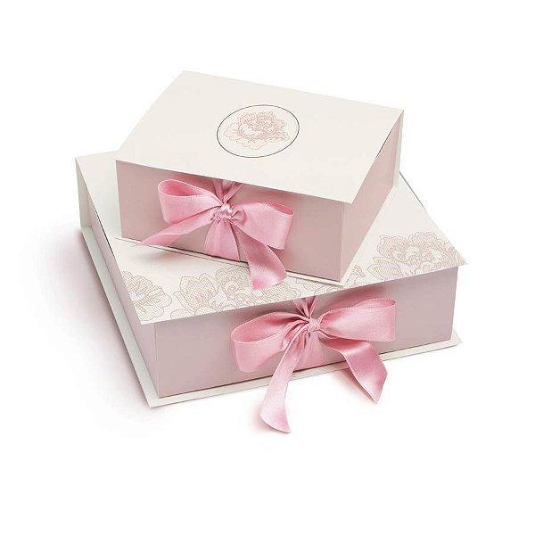 Caixa Rigida Convite Padrinhos P - 01 unidade - Cromus Casamento Romantico - Rizzo Festas