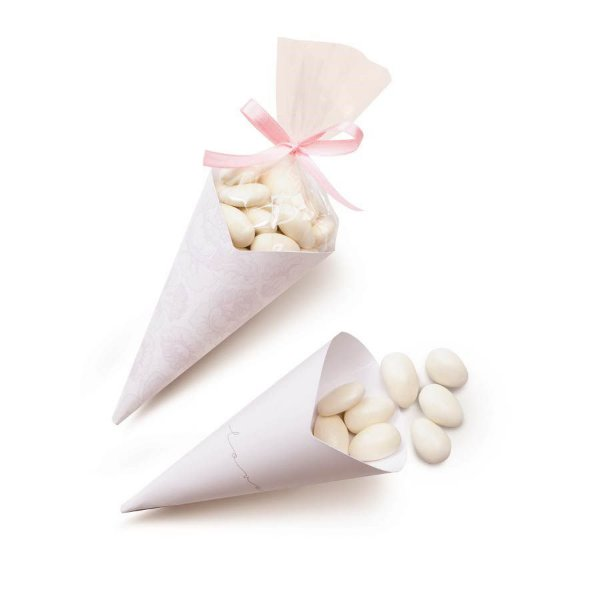 Cone para Amendoas P (23900028) - 24 unidades - Cromus Casamento Romantico - Rizzo Festas