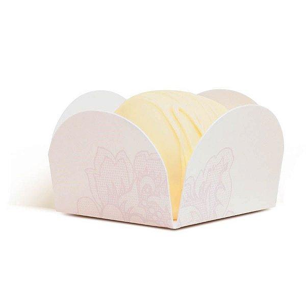 Forminha para Doces Flor Branca (28610305) - 50 unidades - Cromus Casamento Romantico - Rizzo Festas