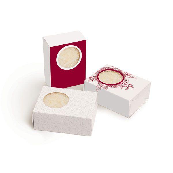 Caixa com Visor 23010858 - 12 unidades - Cromus Casamento Escarlate - Rizzo Festas