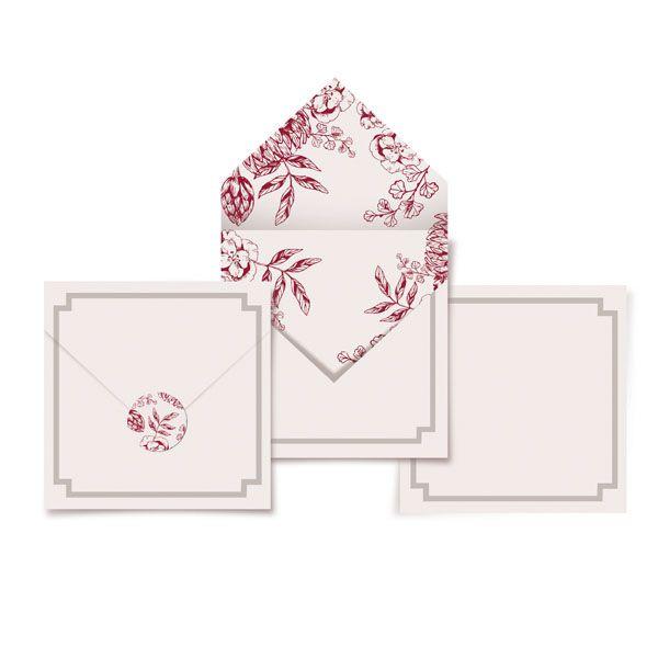 Cartao Agradecimento 23010845 - 24 unidades - Cromus Casamento Escarlate - Rizzo Festas