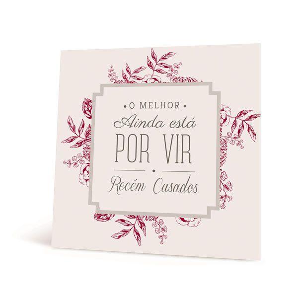 Placa Recem Casados 23010850 - 01 unidade - Cromus Casamento Escarlate - Rizzo Festas