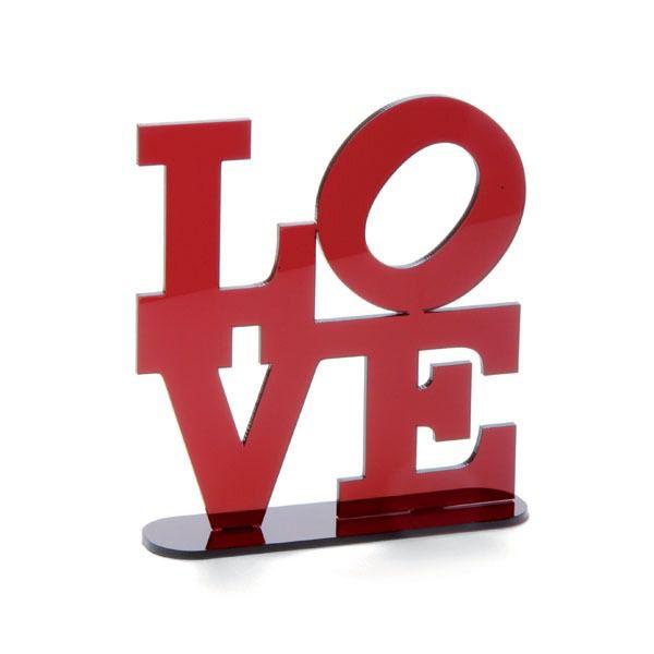 Topo de Bolo LOVE 28400034 - 01 unidade - Cromus Casamento Escarlate - Rizzo Festas