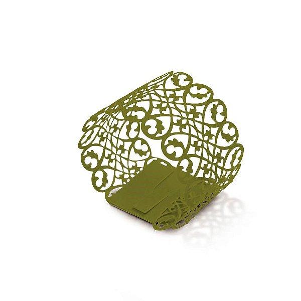 Porta Guardanapo Verde - 06 unidades - Cromus Casamento Rustico - Rizzo Festas