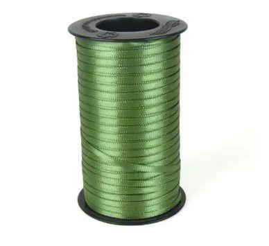 Fita de Cetim Carretel Progresso 6mm nº01 - 100m Cor 249 Verde Militar - 01 unidade - Rizzo Embalagens