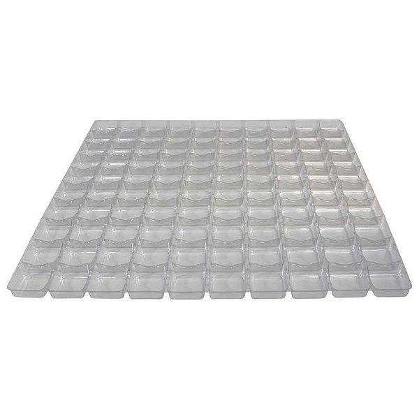 Placa Berço de Acetato para Doces - 100 cavidades de 3,5cm x 3,5cm - Assk - Rizzo Embalagens