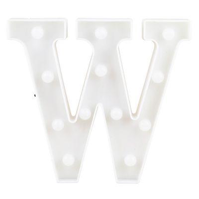 Letra LED Decoração Festa - W - 01 unidade - Rizzo Festas