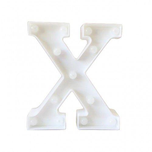 Letra LED Decoração Festa - X - 01 unidade - Rizzo Festas