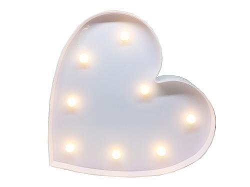 Luminária LED Decoração Festa - coração - 01 unidade - Rizzo Festas