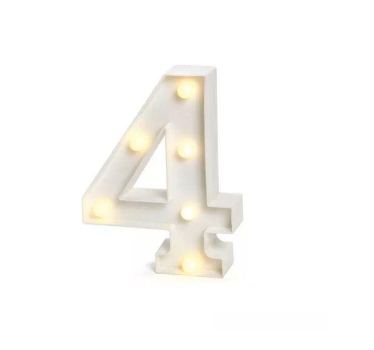 Número LED Decoração Festa - nº 4 - 01 unidade - Rizzo Festas