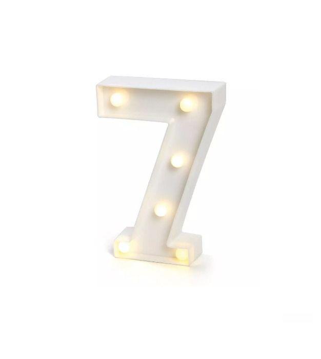 Número LED Decoração Festa - nº 7 - 01 unidade - Rizzo Festas