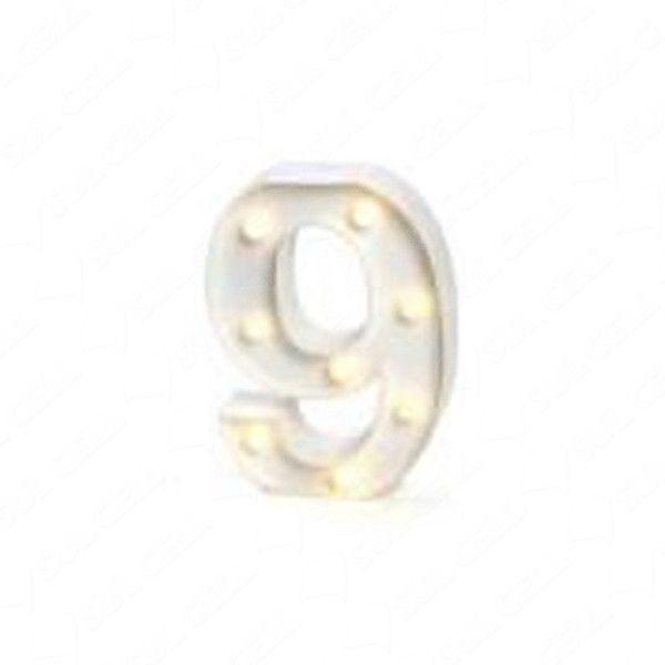 Número LED Decoração Festa - nº 9 - 01 unidade - Rizzo Festas