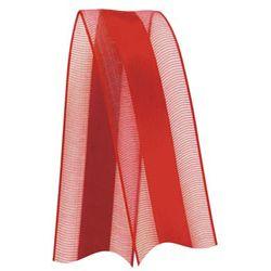 Fita de Voal com Cetim VCE003 15mm Cor 209 Vermelho - 10 metros - Progresso - Rizzo Embalagens