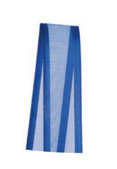 Fita de Voal com Cetim ZC003 15mm Cor 276 Azul Pavão - 10 metros - Progresso - Rizzo Embalagens