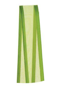 Fita de Voal com Cetim ZC003 15mm Cor 677 Verde Folha - 10 metros - Progresso - Rizzo Embalagens