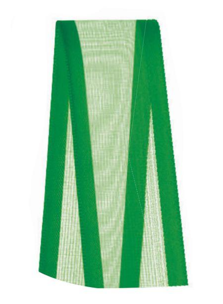 Fita de Voal com Cetim ZC005 22mm Cor 217 Verde Bandeira - 10 metros - Progresso - Rizzo Embalagens