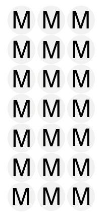 Etiqueta Adesiva Tamanho M - 500 unidades - Massai - Rizzo Embalagens