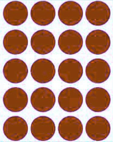 Etiqueta Adesiva Bolinha Marrom Metalizado - 100 unidades - Massai - Rizzo Embalagens
