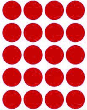 Etiqueta Adesiva Bolinha Vermelho Metalizado - 100 unidades - Massai - Rizzo Embalagens
