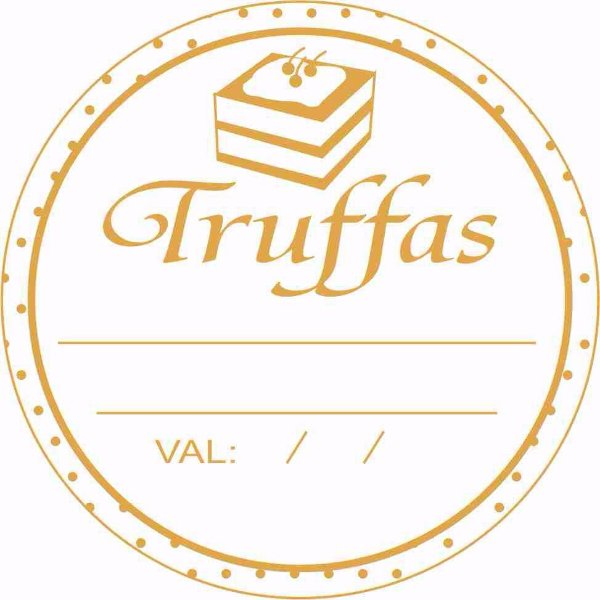 Etiqueta Truffas Validade Modelo 2 - 50 unidades - Massai - Rizzo Embalagens