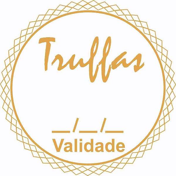 Etiqueta Truffas Validade Modelo 1 - 50 unidades - Massai - Rizzo Embalagens