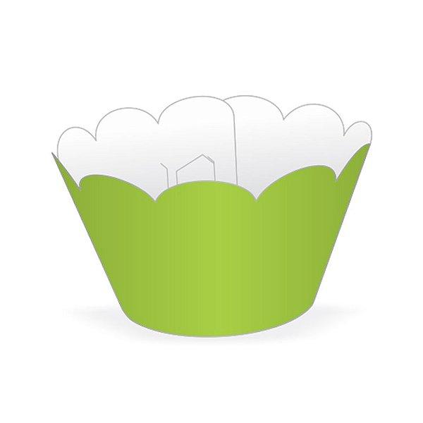 Mini Wrapper Mini Cupcake - Verde Limão - 3cm x 14,5cm - 12 unidades - Nc Toys - Rizzo Embalagens