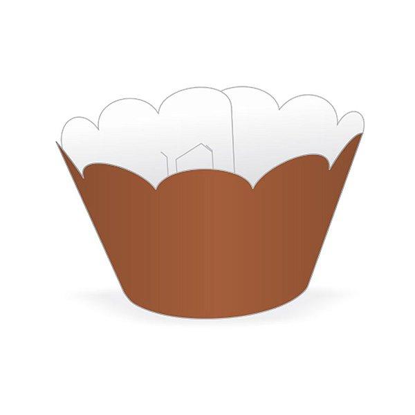 Mini Wrapper Mini Cupcake - Marrom - 3cm x 14,5cm - 12 unidades - Nc Toys - Rizzo Embalagens
