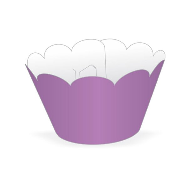 Mini Wrapper Mini Cupcake - Lilás - 3cm x 14,5cm - 12 unidades - Nc Toys - Rizzo Embalagens