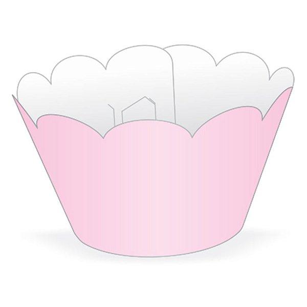 Wrapper Cupcake Tradicional - Rosa Claro - 5cm x 22cm - 12 unidades - Nc Toys