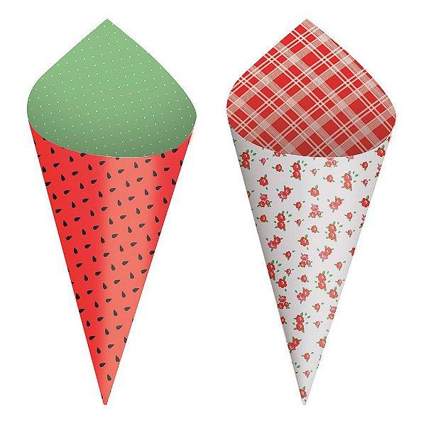 Mini Cone Festa Pic Nic - 24 unidades - Cromus - Rizzo