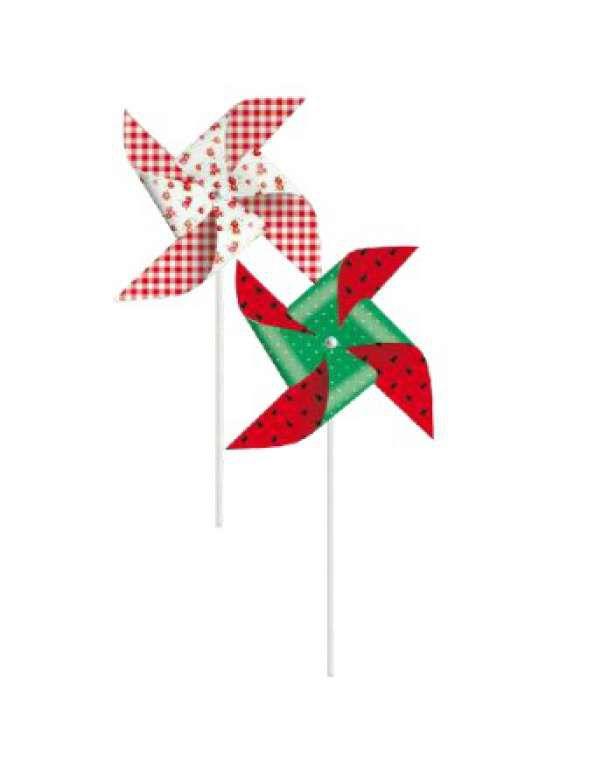 Catavento Decorativo Festa Pic Nic - 8 unidades - Cromus - Rizzo Festas