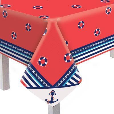 Toalha De Mesa Convidados Festa Marinheiro - 5 unidades - Cromus - Rizzo Embalagens