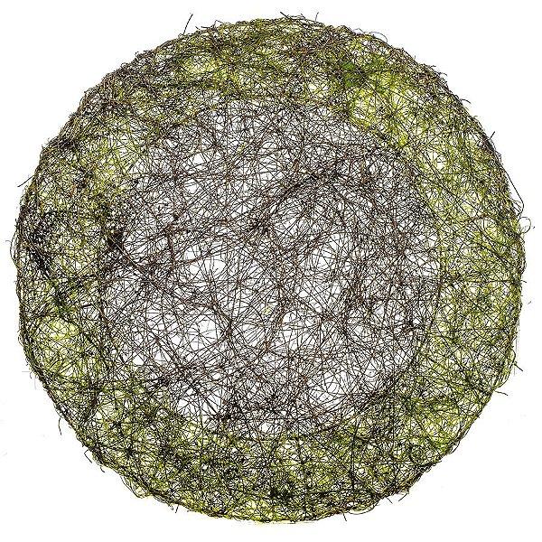 Sousplat Redondo Verde Rústico - 40cm - Linha Rustic - Cromus Páscoa Rizzo Embalagens