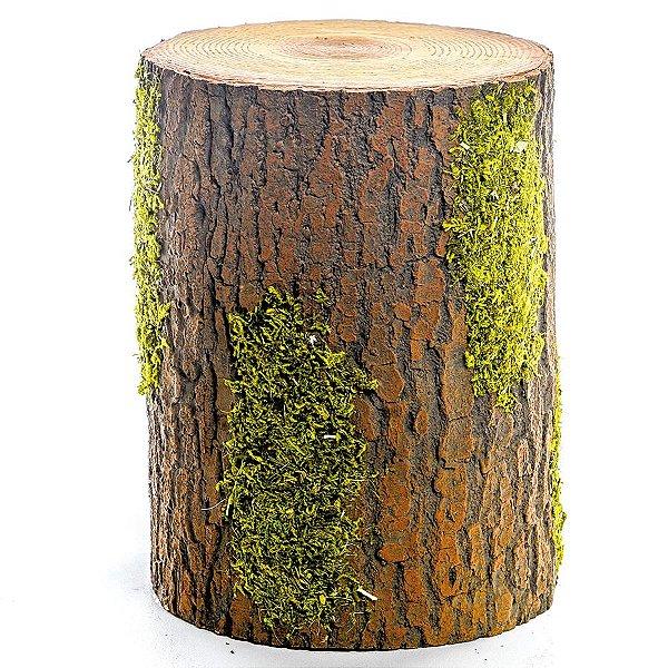 Tronco Decorativo Rústico - G 25cm x 15cm - Linha Rustic - Cromus Páscoa Rizzo Embalagens