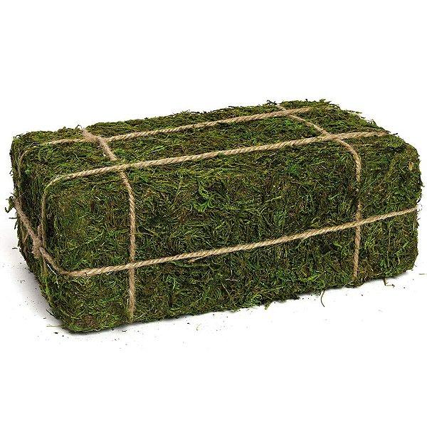 Fardo de Feno Verde Rústico - G 28cm x 11cm x 16cm - Linha Rustic - Cromus Páscoa Rizzo Embalagens