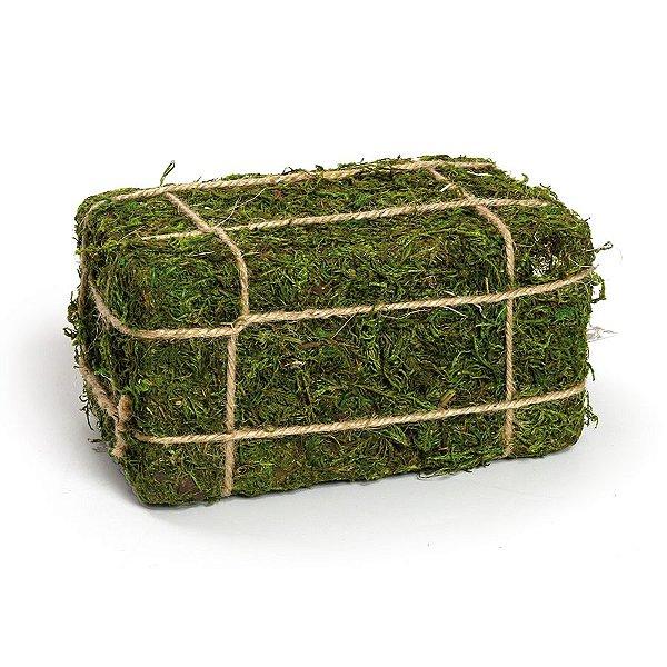 Fardo de Feno Verde Rústico - P 21cm x 11cm x 14cm - Linha Rustic - Cromus Páscoa Rizzo Embalagens