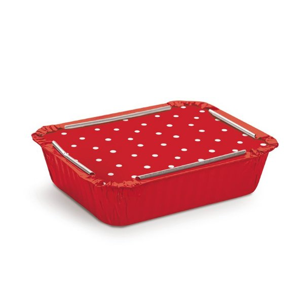 Marmitinha Vermelho Poá Branco M 8,5x6,5x2,5cm - 12 unidades - Cromus - Rizzo Embalagens