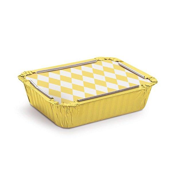 Marmitinha Losango Amarelo M 8,5x6,5x2,5cm - 12 unidades - Cromus - Rizzo Embalagens