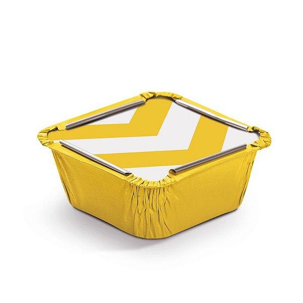 Marmitinha Missoni Amarelo P 5,5x5,5x3cm - 12 unidades - Cromus - Rizzo Embalagens