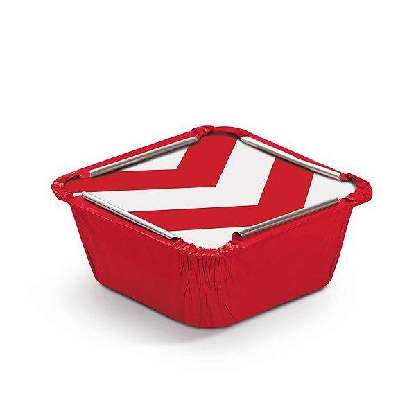 Marmitinha Missoni Vermelho P 5,5x5,5x3cm - 12 unidades - Cromus - Rizzo Embalagens