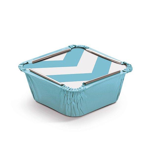 Marmitinha Missoni Azul P 5,5x5,5x3cm - 12 unidades - Cromus - Rizzo Embalagens