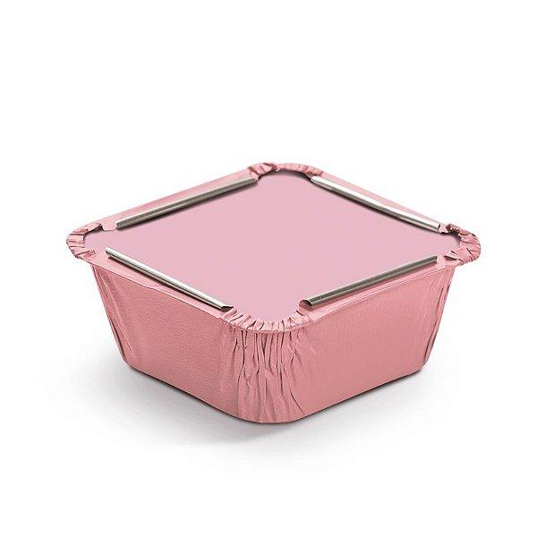 Marmitinha Liso Rosa P 5,5x5,5x3cm - 12 unidades - Cromus - Rizzo Embalagens
