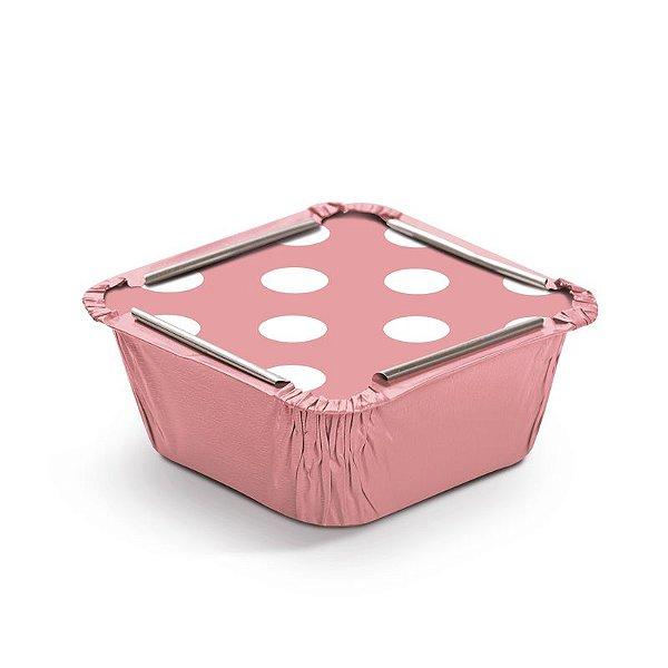 Marmitinha Poá Rosa P 5,5x5,5x3cm - 12 unidades - Cromus - Rizzo Embalagens